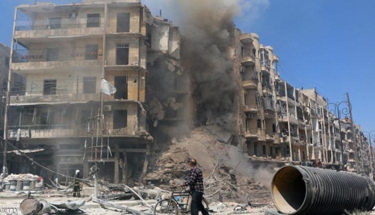 آثار الدمار الناجمة عن القصف شمالي حلب