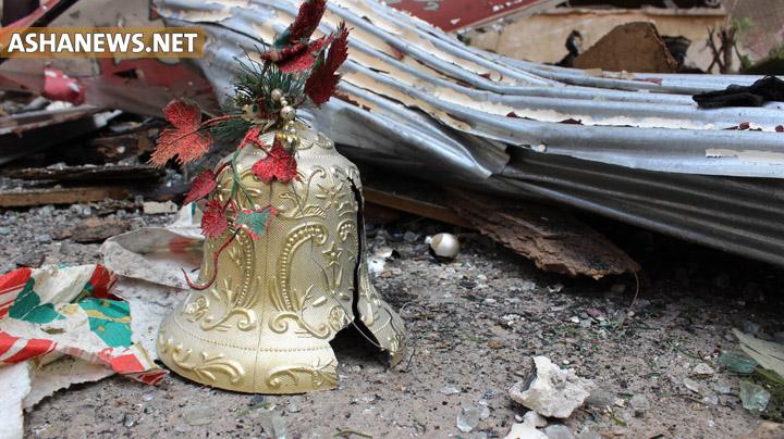 صورة للدمار الذي لحق بحي الوسطى بعد تفجيرات إرهابية في 19 حزيران/يونيو 2016