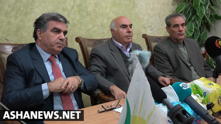 مؤتمر صحفي للحزب الديقمراطي التقدمي الكردي في سوريا – أرشيف
