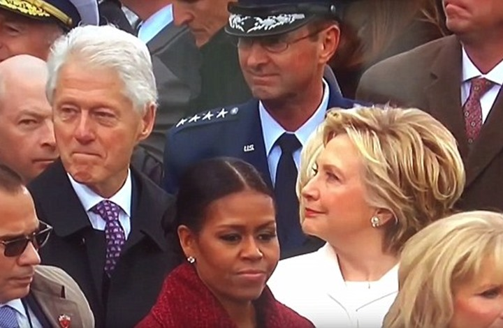 بيل كلينتون نظر إلى إيفانكا ترامب فأثار غضب هيلاري