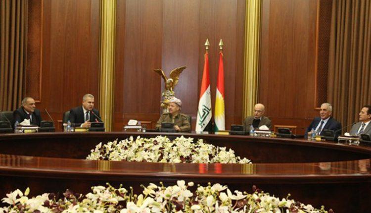 رئيس اقليم كوردستان مسعود بارزاني يستقبل وفد المجلس الوطني الكوردي