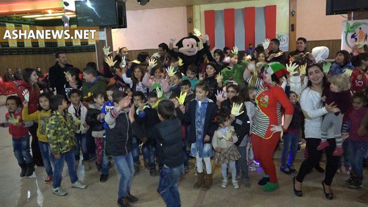 بالفيديو: جمعية دوست تقيم حفلاً ترفيهياً للأطفال في مدينة القامشلي