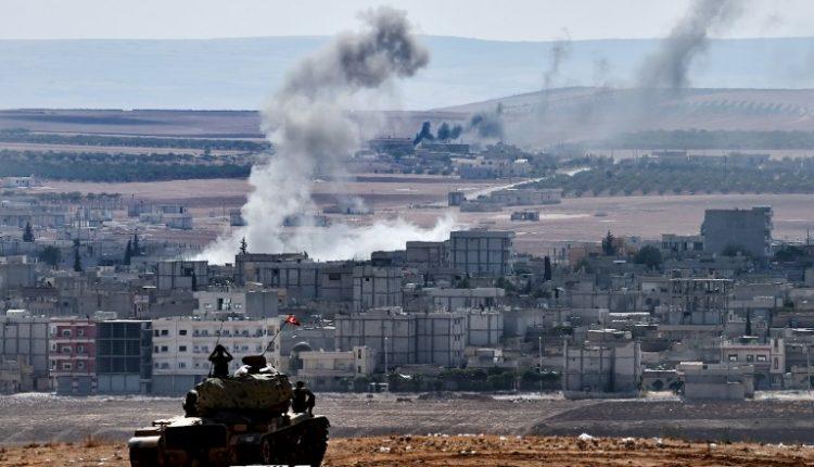 دبابة تركية على مشارف مدينة كوباني