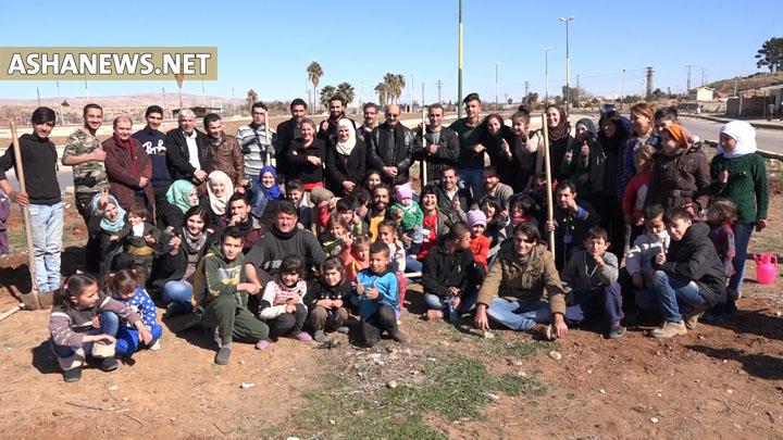 """""""معاً نحو مجتمعات خضراء"""" حملة تشجير لمنظمات المجتمع المدني في قامشلو"""