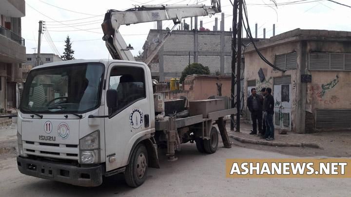 سيارة طوارئ تابعة لهيئة الطاقة في قامشلو