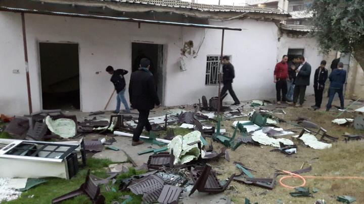 مقر حزب يكيتي الكردي في قامشلو بعد تعرضه لهجوم من قبل أنصار الاتحاد الديمقراطي