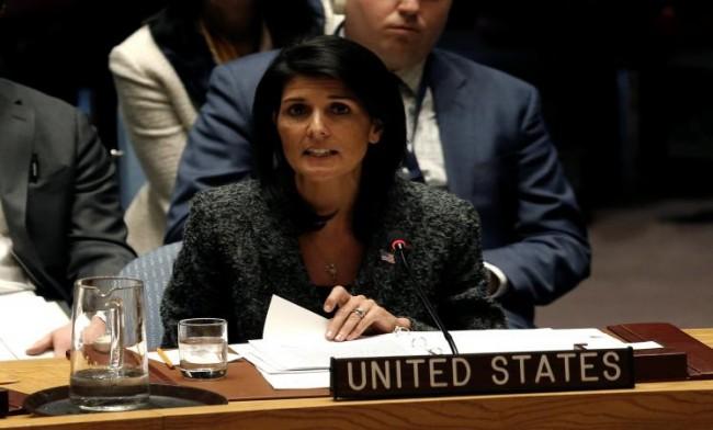 نيكي هيلي سفيرة واشنطن لدى الأمم المتحدة
