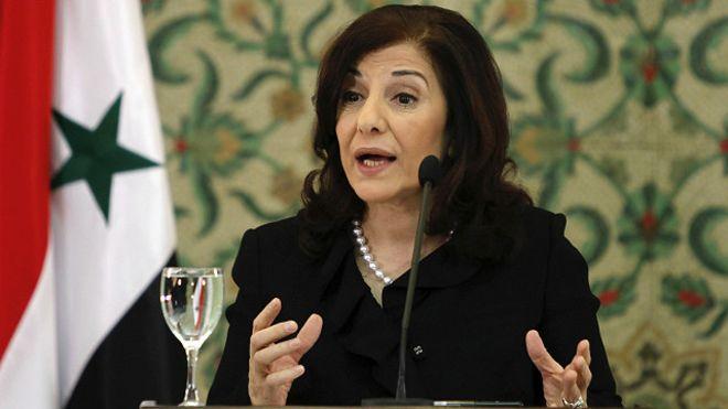 ثينة شعبان المستشارة الاعلامية والسياسية لرئيس النظام السوري