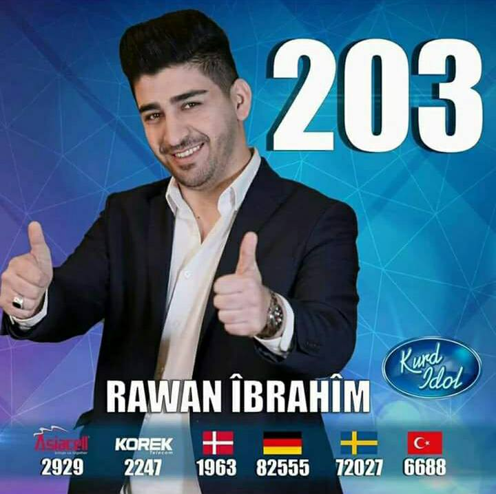 "rewan ibrahim - سفير مدينة الحب ""روان إبراهيم"" يواصل التألق في كورد ايدل"