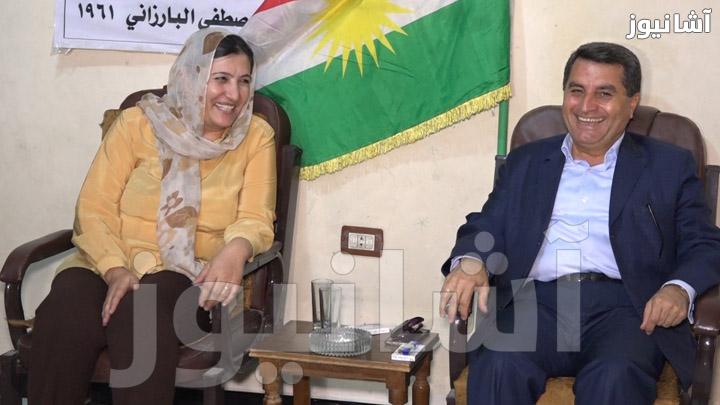 عبدالكريم عمر عضو المؤتمر القومي الكردستاني وفصلة يوسف نائبة المجلس الوطني الكردي
