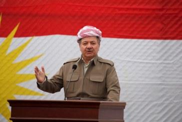 بارزاني: كردستان المستقلة سيكون لها نشيد وطني وعلم جديد يمثل كل المكونات