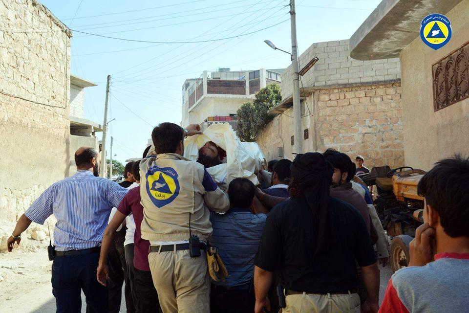 7 قتلى في هجوم مسلح على مركز الدفاع المدني في سرمين بريف إدلب