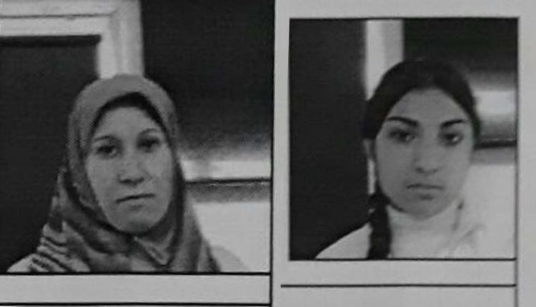 اللاجئة الكردية عائشة جمعة وابنتها وفاء نعسان