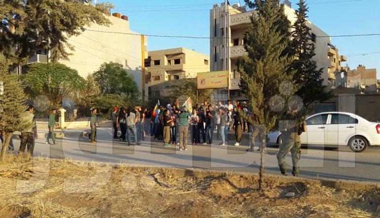 الشبيبة الثورية والآسايش قرب اعتصام المجلس الوطني الكردي في قامشلو / آشا نيوز