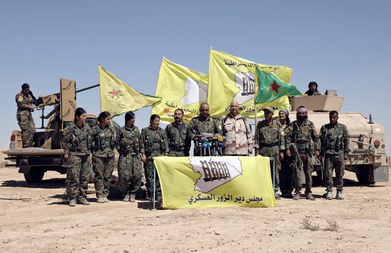 قوات سوريا الديمقراطية تبدأ عملية ضد الدولة الإسلامية في دير الزور
