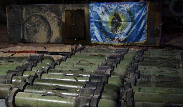 صورة للصواريخ التي تمت مصادرتها