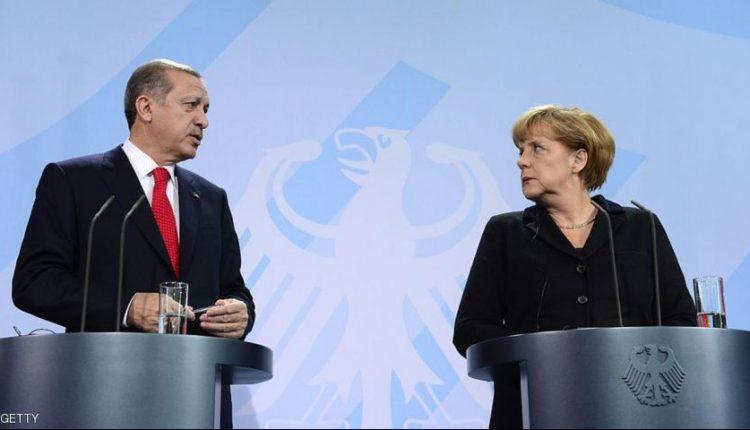 المستشارة الالمانية انغيلا ميركل والرئيس التركي رجب طيب أردوغان