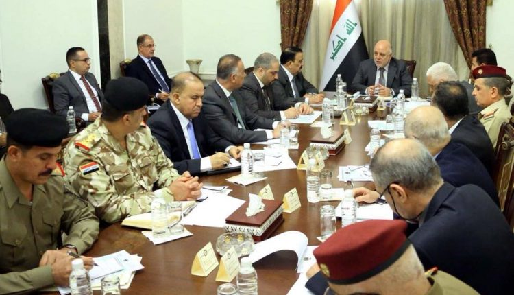رئيس مجلس الوزراء العراقي حيدر العبادي يترأس اجتماعا للمجلس الوزاري للأمن الوطني