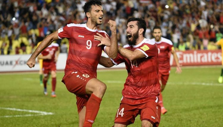 عمر السومة يحمل الرقم 9 مع المنتخب السوري