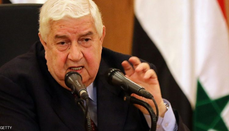 وزير الخارجية السوري وليد المعلم