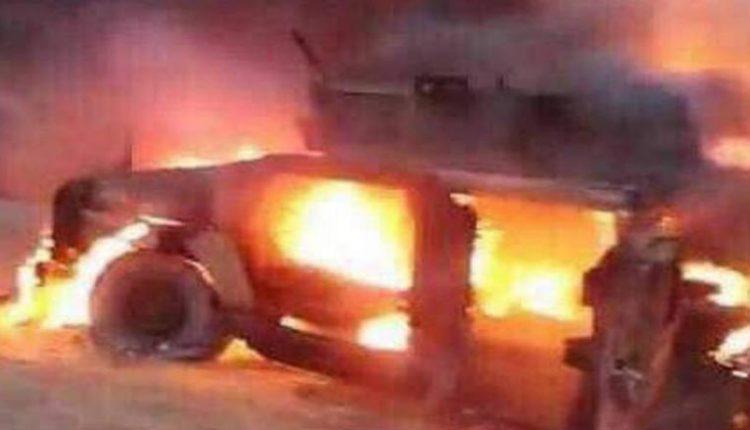 البيشمركة تحرق عربات عسكرية تابعة للحشد