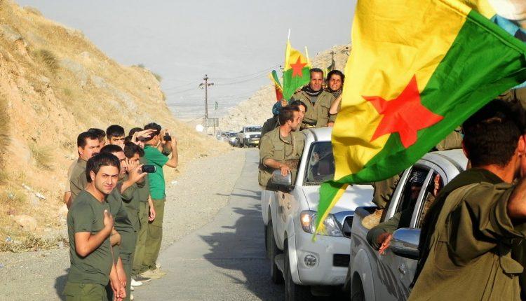 مقاتلين من العمال الكردستاني في مدينة كركوك