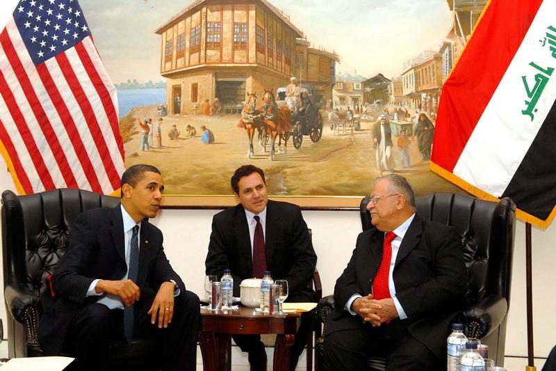 جلال طالباني وباراك أوباما
