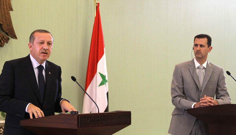 الرئيس السوري بشار الأسد والرئيس التركي رجب طيب أردوغان