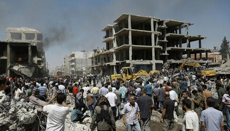 صورة لتفجير الحي الغربي في قامشلو – أرشيف
