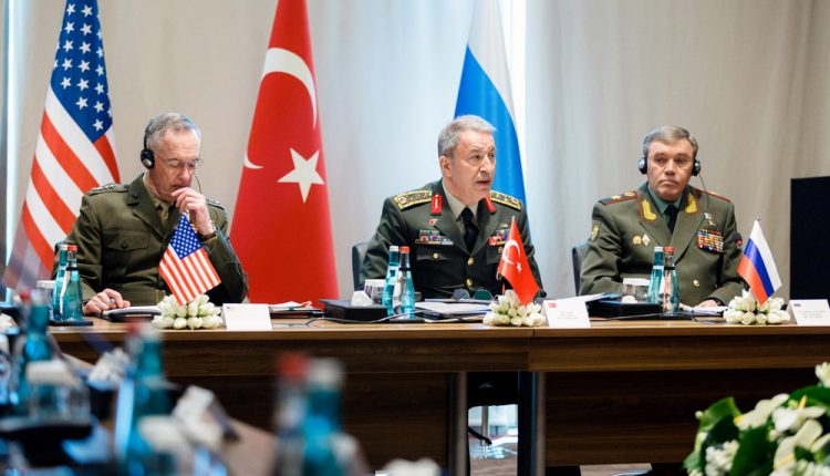رؤساء هيئة الأركان التركي والروسي والأمريكي