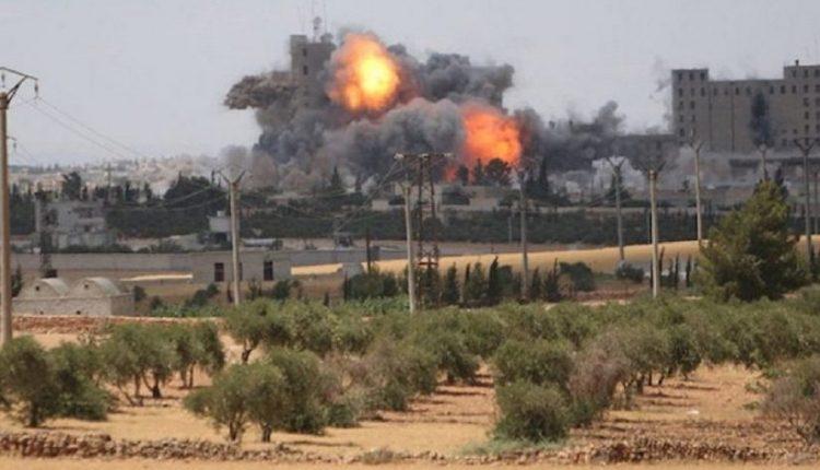 تركيا تقصف عفرين بالاسلحة الثقيلة