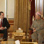 مسعود بارزاني يناقش مستقبل كرد سوريا مع بريت ماكغورك