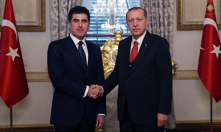 أردوغان ونيجيرفان بارزاني