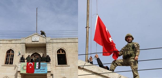 الجيش التركي يدخل عفرين