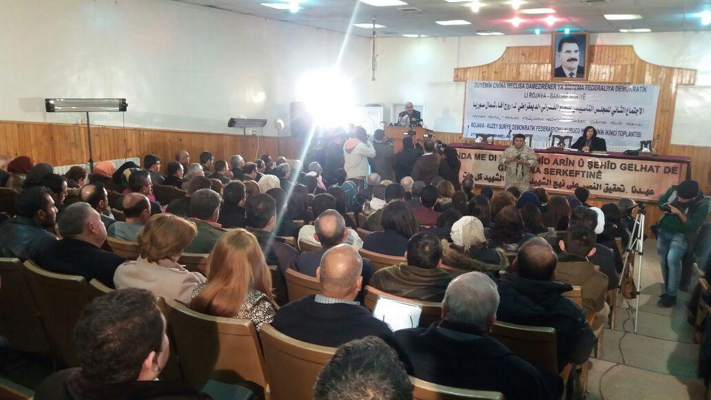 بدأ اجتماع المجلس التأسيسي لفدرالية روج آفا – شمال سوريا لتحديد موعد إعلان الفدرالية