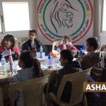 مكتب المرأة والطفولة في المجلس الوطني الكردي ينظم نشاطاً ترفيهاً للأطفال في القامشلي
