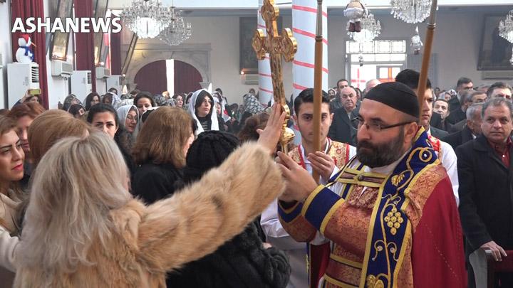مسيحيو القامشلي يحتفلون بعيد الغطاس (عيد معمودية السيد المسيح)