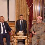 """بارزاني لأوغلو : نرفض التأجيل والاستفتاء """"حق ديمقراطي وطبيعي لشعب كردستان"""""""
