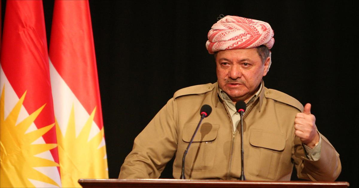 """بارزاني: إذا أصرت """"بغداد"""" على الخيار العسكري سندافع عن كردستان"""