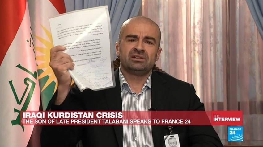 بافل طالباني يؤكد عقد اتفاقية مع الجيش العراقي بمشاركة 38 قيادياً في الاتحاد الوطني