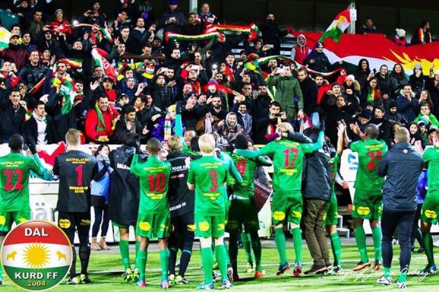"""نادي """"دالكورد"""" الكردي يتربع على قمة ثاني أعلى دوري في السويد"""