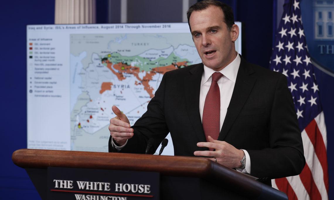 """""""واشنطن تايمز"""" تحمل بريت ماكغورك مسؤولية الهجوم على كركوك"""