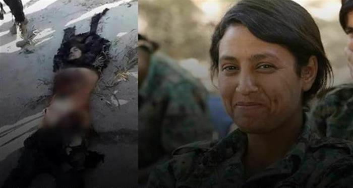عفرين.. فيديو تمثيل بجثة مقاتلة كُردية يثير غضب رواد مواقع التواصل الاجتماعي