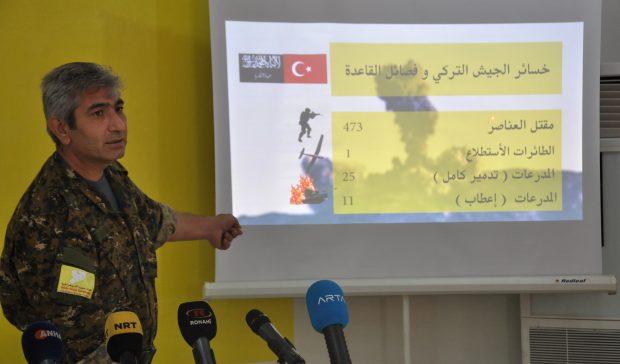 """""""قسد"""" تؤكد مقتل 437 عنصر من الجيش التركي وحلفائه"""